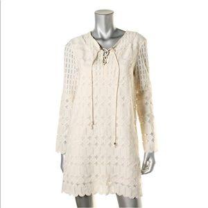 MICHAEL Micheal Kors Cream Lace Up Dress